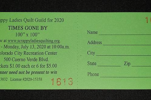 2020 Raffle Quilt Ticket