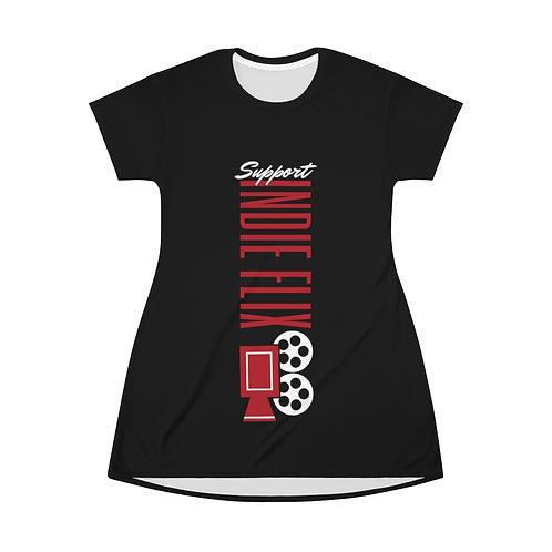 Vertical Support Indie Flix T-Shirt Dress