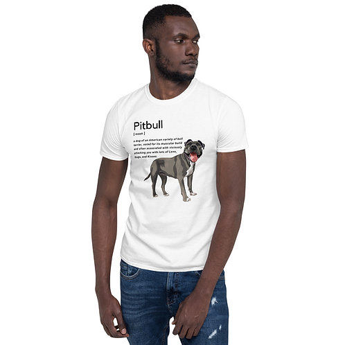 Pitbull Definition (In White) - Unisex T-Shirt