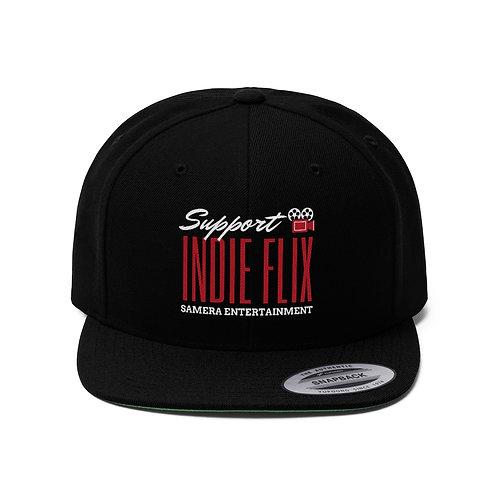 Support Indie Flix Flat Bill Hat