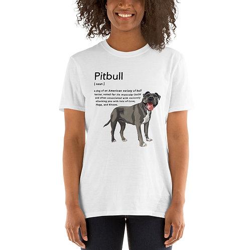 Pitbull Definition (In White) - Unisex T-Shirt