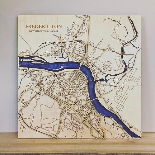 Fredericton Map