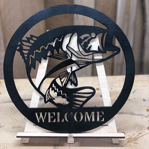 Welcome of Family Name Fish Sign
