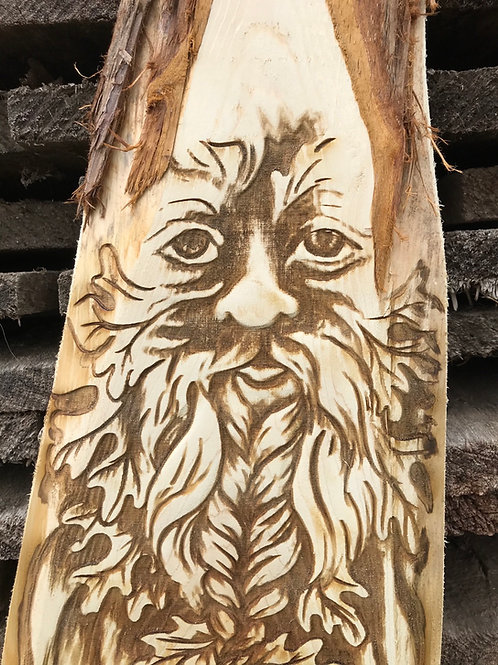 Carved Cedar Garden Gnome