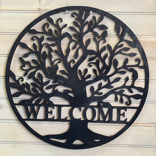 15 inch Tree of Life. Welcome or Family Name.