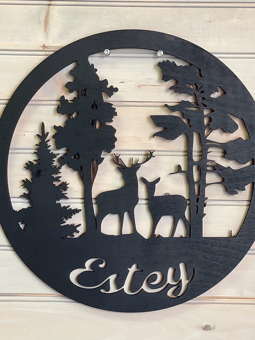 Wildlife 15 inch Welcome or Family Name Signs
