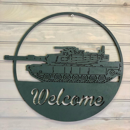 Military Sign with Welcome or Family Name
