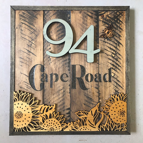 Rustic Outdoor Address Sign