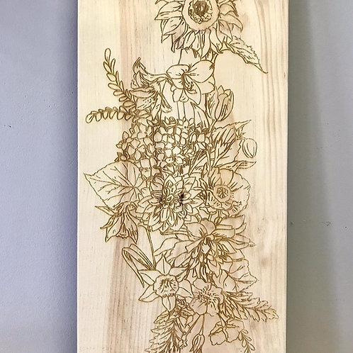 Garden fFlowers Colouring Board