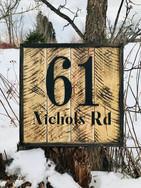 Rustic Address Sign