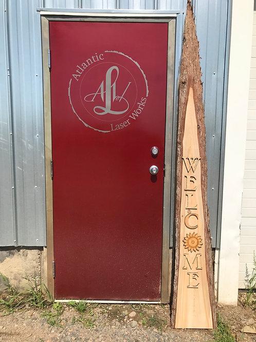 Solid Cedar Welcome Sign