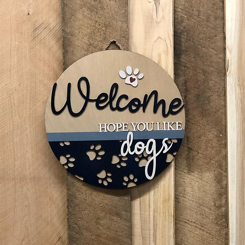 Dog Lover's Welcome!  Check out the 3 colors!