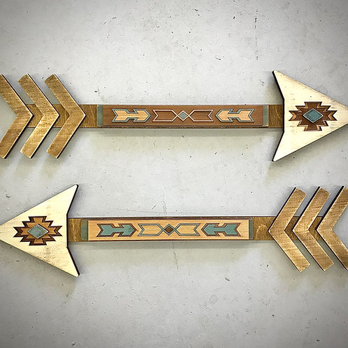 Southwest Decor Cedar Inlay Arrows
