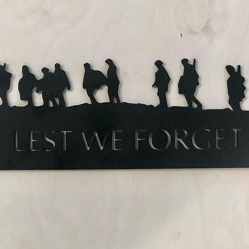 Lest We Forget Sign