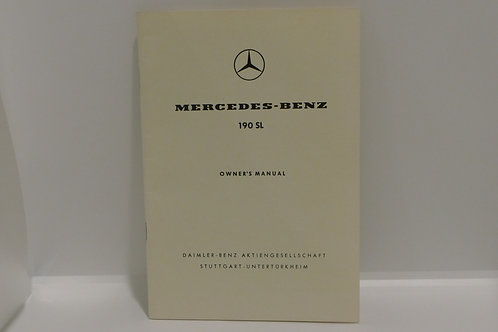 NOS Mercedes Benz 190 SL Owners Manual W121 B II Handbook NOS