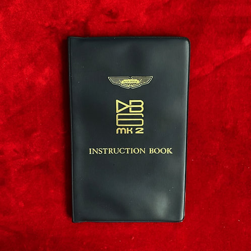 DB6 MK2 Instruction Book