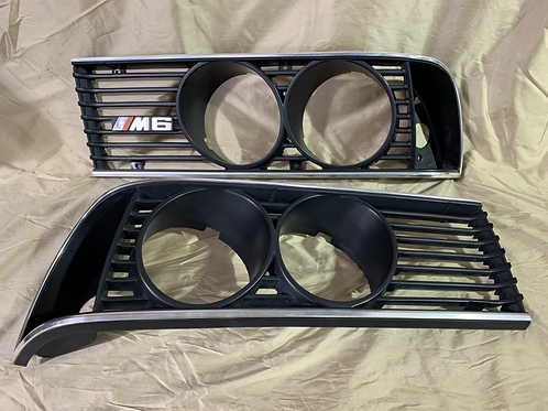 BMW E24 Front Headlight Grille Grill Headlight Bezels RH LH / 635csi 633i L6 M6