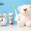 LUX DENT Kids Strawberry Toothgel Teddy Old Clock Toothbrush