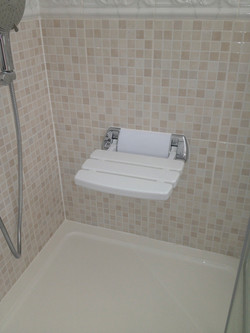 Shower Seat to help with Mobility.