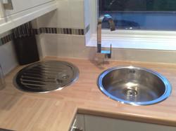 Separate Sink Bowl/Tap & Drainer.