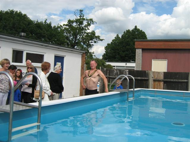 Mayor Bob Needham Preparing For Swim