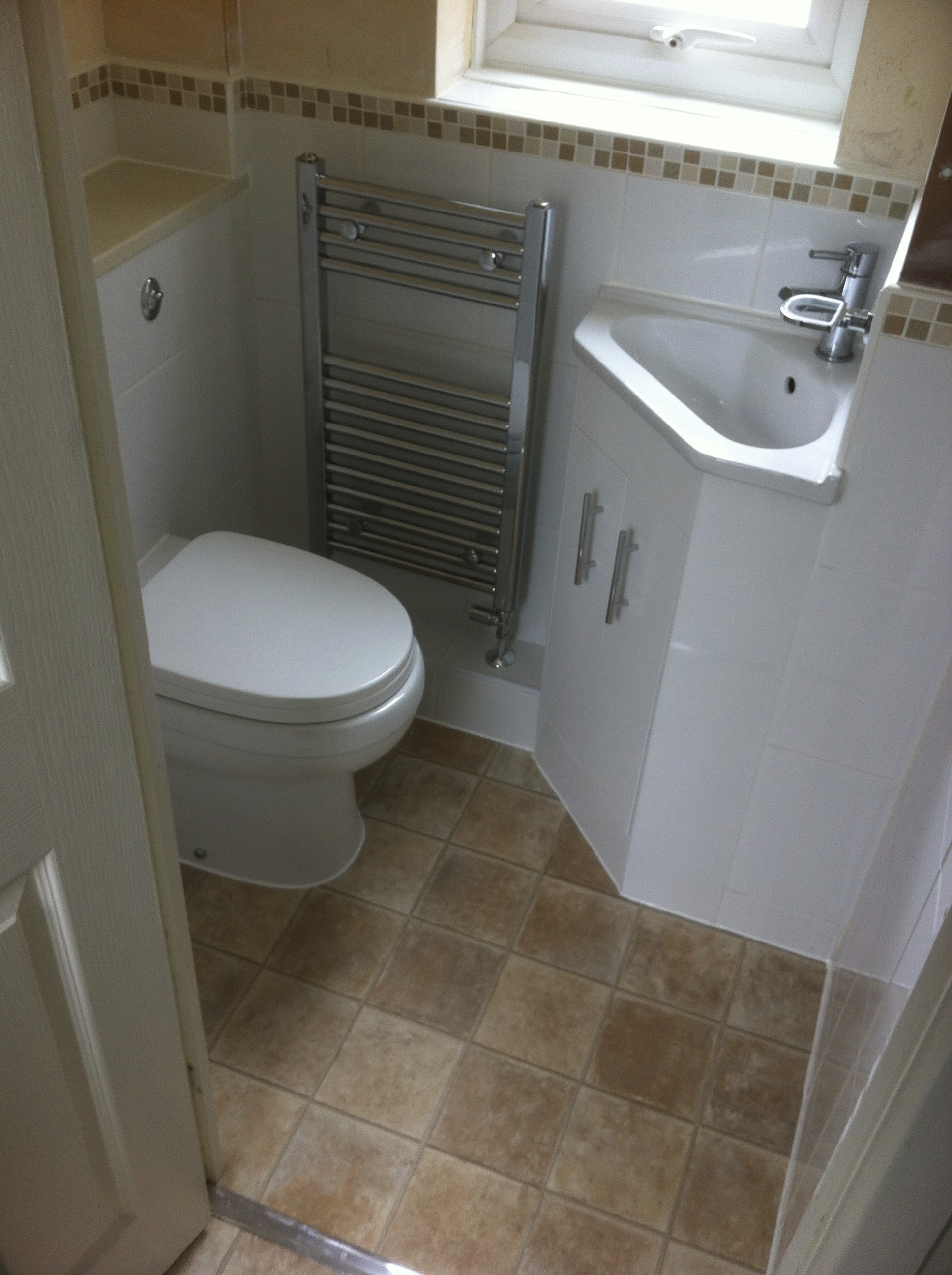 Make use of a small Cloakroom.