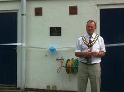 Mayor Bob Needham, Grand Opening.