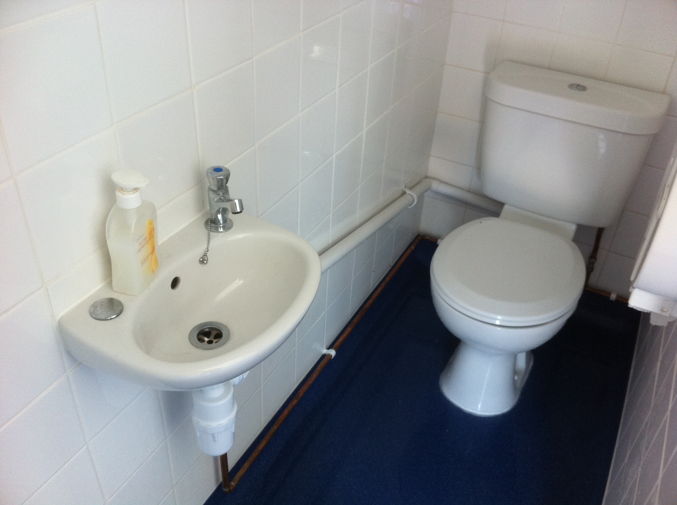 New Sink and Toilet For Boys.