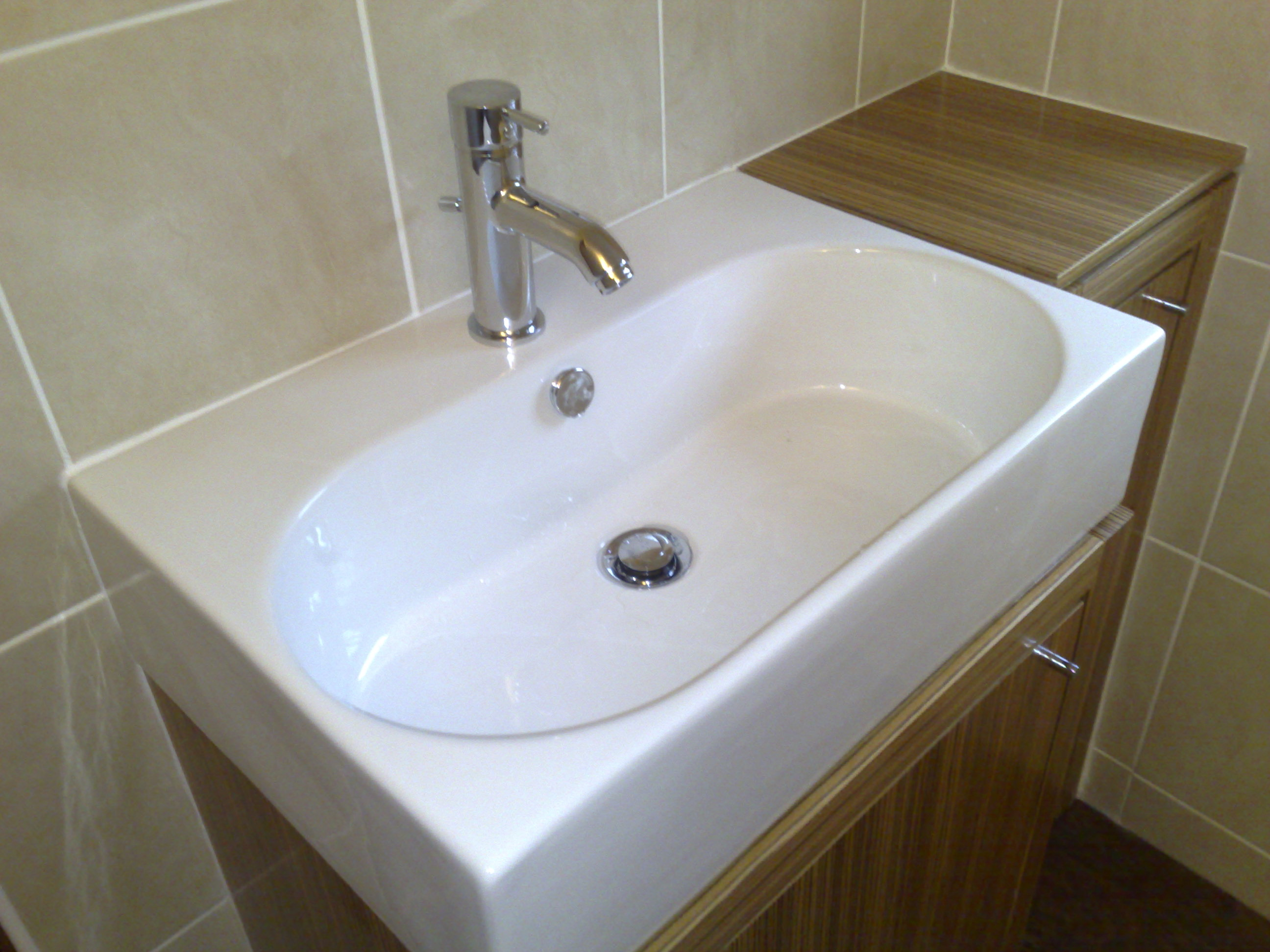 Slim Fitting Built-In Basin.