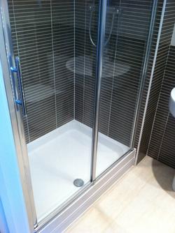 Large Shower Enclsoure.