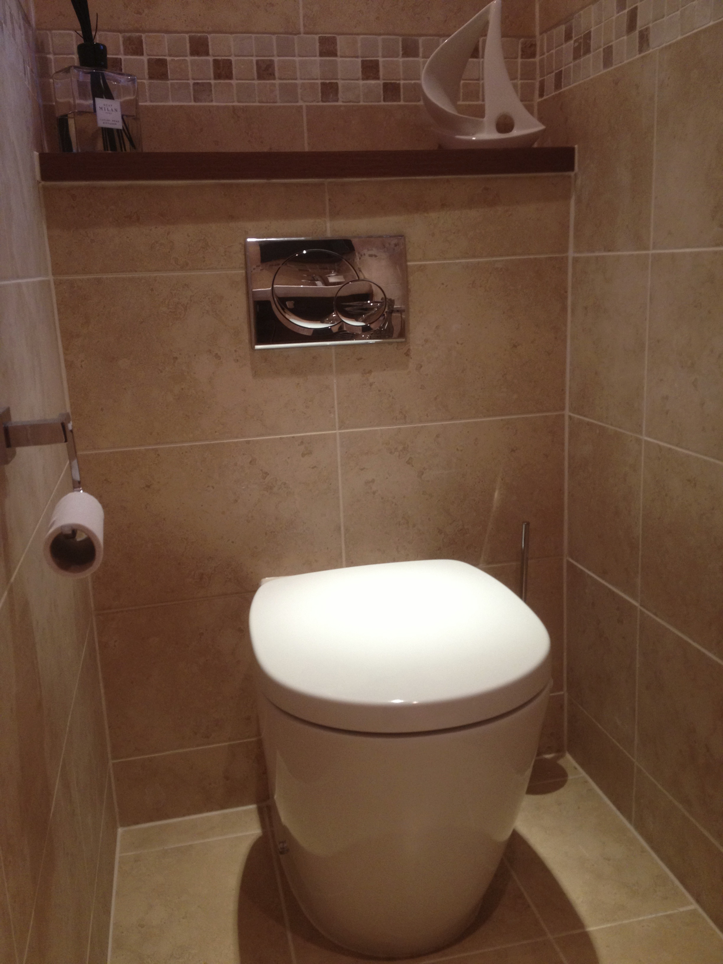 Bespoke built-in Toilet and Cistern.