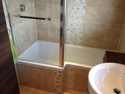 L Shaped Shower Bath.
