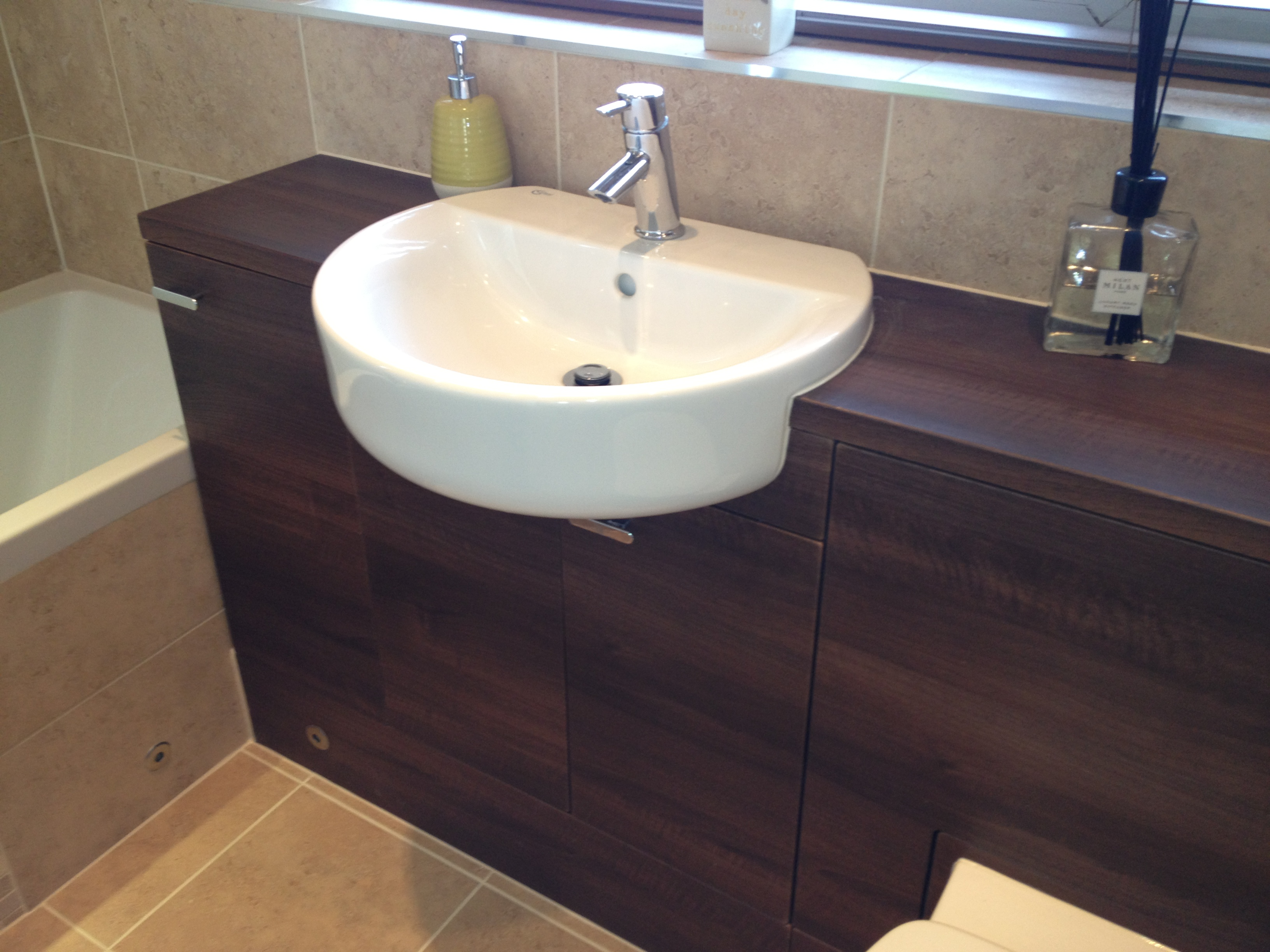 Built In Cabinets and Basin.