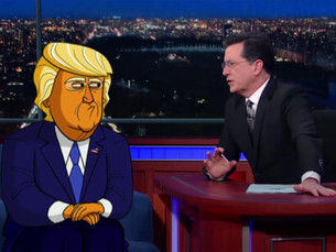 How Colbert Protests the President