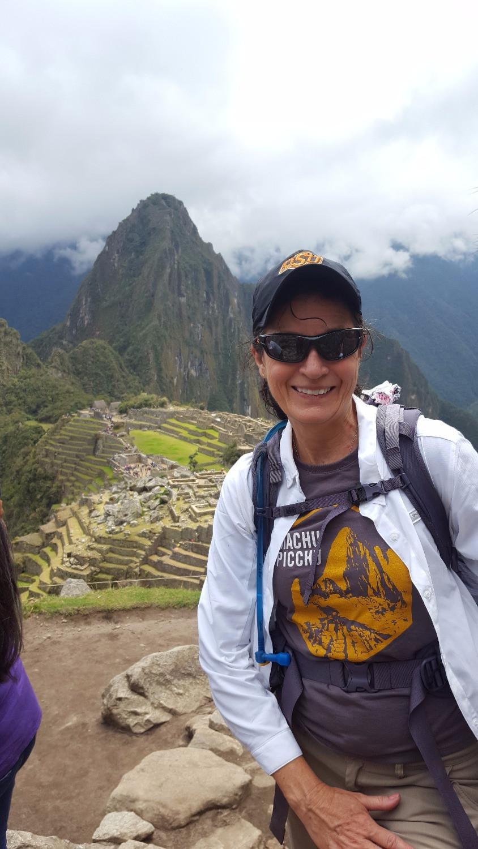 Photo of Connie Hallof at Machu Picchu