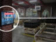 Warehouse digital sign displaying emerge