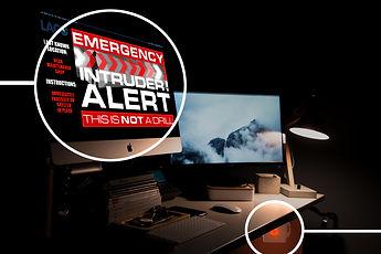 Emergency management alert on digital si