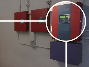Fire control panel integrated with InfoK