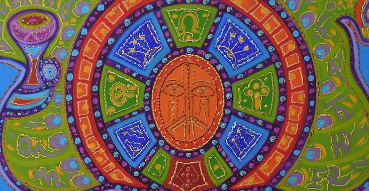 Anne Furnaris, The Heart of Heavens III, Oil on Canvas, Fine Arts in Michigan, Fine Arts in USA, Professional Artists in Michigan, Professional Artists in USA, Visual Arts in Michigan, Visual Arts in USA, Esoteric-Hermetic Art,