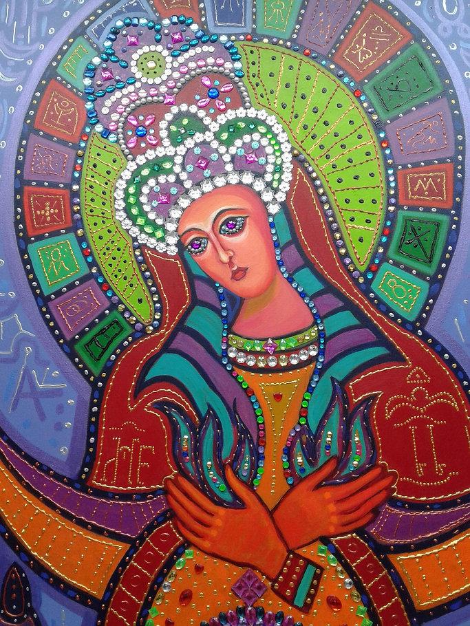 Anne Furnaris, The Queen of Heavens III,  Fine Arts in Michigan, Fine Arts in USA, Professional Artists in Michigan, Professional Artists in USA, Visual Arts in Michigan, Visual Arts in USA,