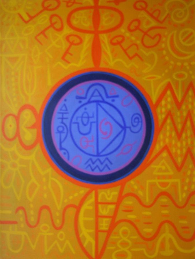 Anne Furnaris, Mystical Moon, Oil on Canvas, Fine Arts in Michigan, Fine Arts in USA, Professional Artists in Michigan, Professional Artists in USA, Visual Arts in Michigan, Visual Arts in USA, Esoteric-Hermetic Art,