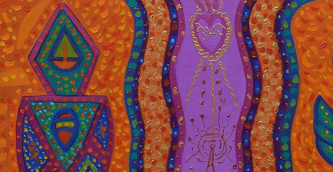 Anne Furnaris, Heart of Heavens I, Oil on Canvas, Fine Arts in Michigan, Fine Arts in USA, Professional Artists in Michigan, Professional Artists in USA, Visual Arts in Michigan, Visual Arts in USA, Esoteric-Hermetic Art,