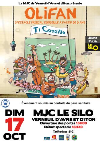 """""""Ti'Canaille"""" d'Olifan : un concert pour les enfants à partir de 3 ans, le 17 octobre au Silo"""