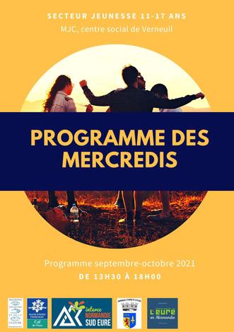 Programme jeunesse des mercredis de septembre et octobre