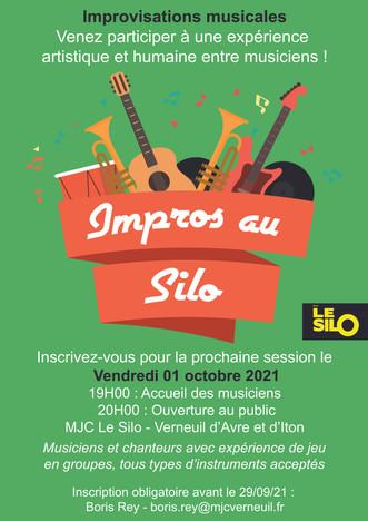 Venez participer ou assister à une session d'impro musicale au Silo le 1er octobre !