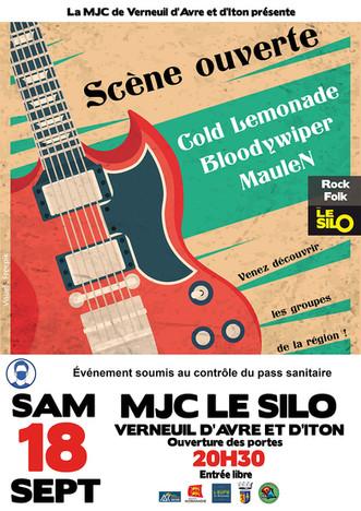 Scène ouverte au Silo avec Cold Lemonade, Bloody Wiper et MauleN le samedi 18 septembre