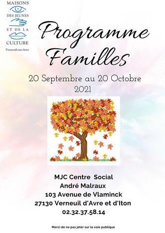 Programme familles du 22 septembre au 20 octobre 2021