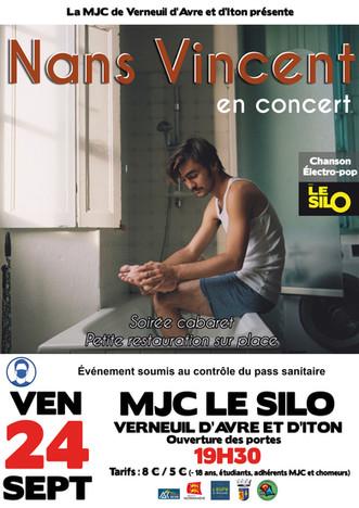 Concert en formule cabaret avec Nans Vincent le vendredi 24 septembre