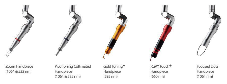 Picosecond Laser มีหลายหัวที่เราสามารถนำมาใช้รักษาปัญหาผิวต่างๆ