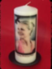custom memorial candle